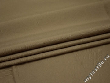 Костюмная бежевая ткань полиэстер ВА620