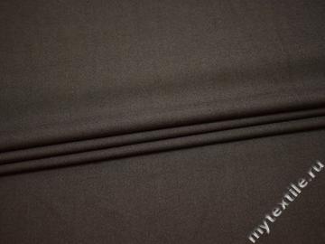 Костюмная коричневая ткань хлопок с полиэстером ВА626