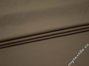 Костюмная бежевая ткань хлопок с полиэстером ВА628