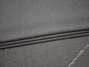 Костюмная серая ткань хлопок с полиэстером ВА629