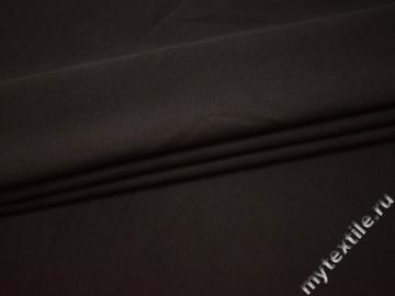 Костюмная коричневая ткань хлопок ВБ33