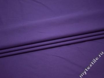 Костюмная фиолетовая ткань хлопок полиэстер ВБ34