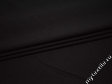 Костюмная черная ткань полиэстер с хлопком ВБ36