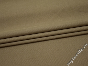 Костюмная оливковая ткань полиэстер ВА610