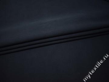 Костюмная тёмно-синяя ткань хлопок ВБ319