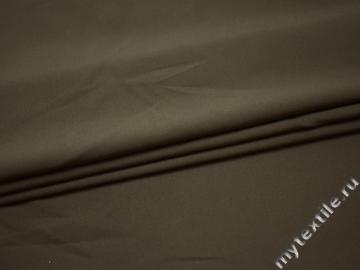 Костюмная тёмно-бежевая ткань хлопок с эластаном ВБ325