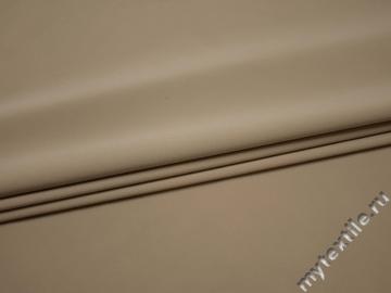 Костюмная бежевая ткань полиэстер с эластаном ВБ328