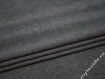 Костюмная серая ткань полиэстер ВВ116