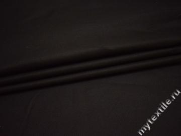 Костюмная тёмно-коричневая ткань хлопок ВВ122