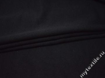 Костюмная черная ткань хлопок ВВ127