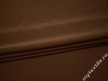 Костюмная коричневая ткань полиэстер эластан ВВ28