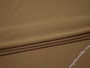 Костюмная бежевая ткань полиэстер вискоза ВВ211