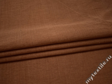 Костюмная коричневая ткань хлопок В/В213
