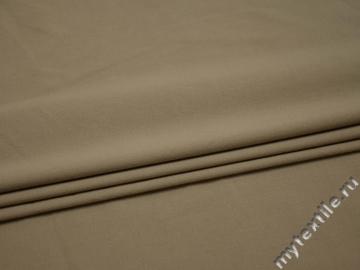 Костюмная бежевая ткань хлопок полиэстер В/В230