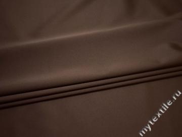 Костюмная коричневая ткань полиэстер эластан В/В231