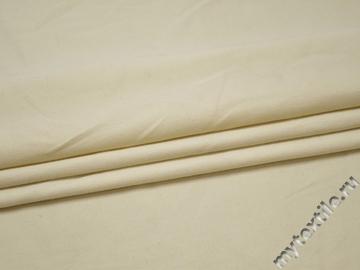 Костюмная молочная ткань хлопок шерсть эластан В/Б436