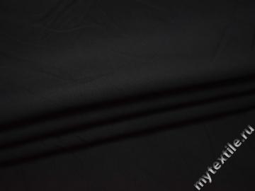 Костюмная черная ткань вискоза хлопок ВВ114