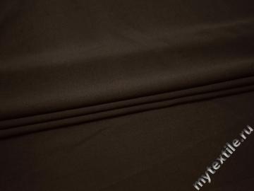Костюмная коричневая ткань хлопок полиэстер ВВ115