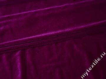Бархат-стрейч фиолетовый полиэстер с лайкрой Г/В2-54