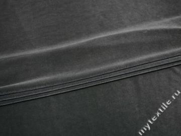 Бархат-стрейч серый полиэстер лайкра Г/В2-32