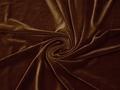 Бархат-стрейч коричневый полиэстер лайкра Г/В2-29