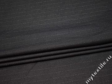 Костюмная серая ткань в полоску хлопок полиэстер ВВ443