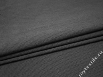 Костюмная серая ткань хлопок ВВ447