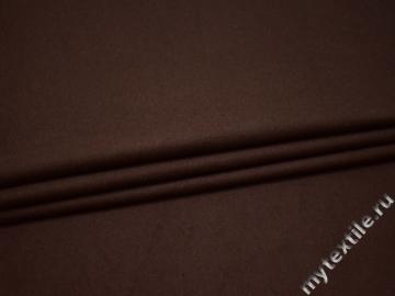 Костюмная коричневая ткань хлопок ВВ241