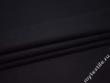 Костюмная тёмно-синяя ткань хлопок ВВ243