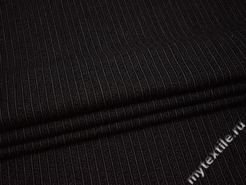 Джинс черный в полоску хлопок ВВ523