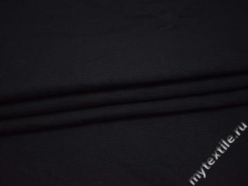 Костюмная фактурная синяя ткань хлопок ВВ532