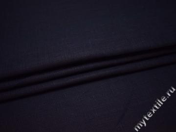 Костюмная синяя ткань хлопок ВВ545