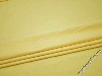 Костюмная лимонная ткань хлопок эластан ВГ129