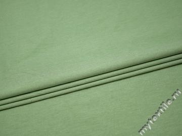 Костюмная зеленая ткань хлопок эластан ВГ130