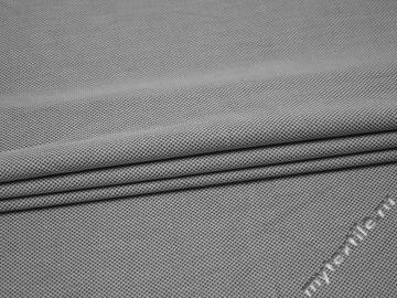 Костюмная серая ткань хлопок полиэстер  ВА648