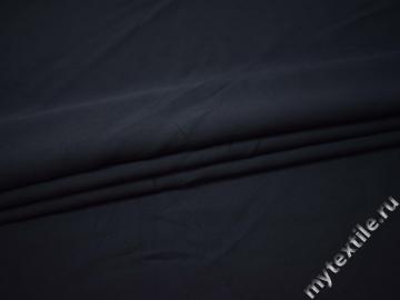 Костюмная синяя ткань хлопок эластан ВВ37