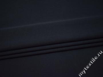 Костюмная тёмно-синяя ткань полиэстер хлопок ВВ317