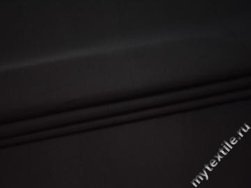 Костюмная черная ткань хлопок полиэстер ВВ326