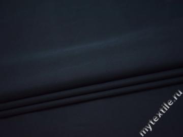 Костюмная синяя ткань хлопок полиэстер эластан ВВ331