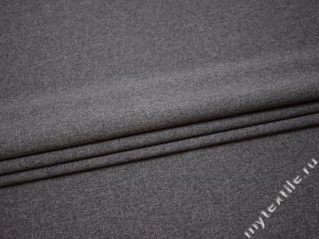 Костюмная серая ткань полиэстер эластан ВВ336