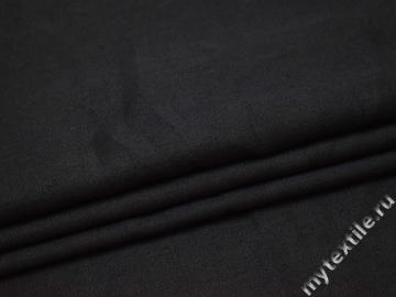 Костюмная серая ткань шерсть хлопок ГД157