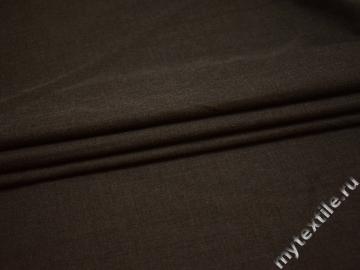 Костюмная коричневая ткань шерсть полиэстер ГД311