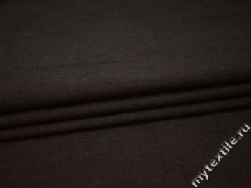 Костюмная бордовая ткань шелк шерсть полиэстер ГД320