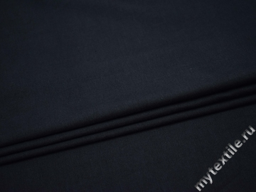 Костюмная синяя ткань шерсть хлопок ГЕ425