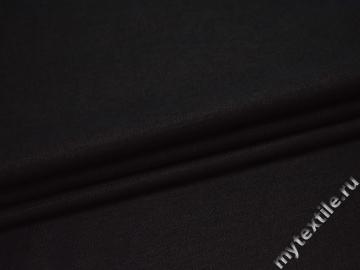 Костюмная черная ткань шерсть хлопок ГЕ429