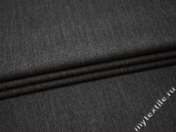 Костюмная серая ткань шерсть полиэстер ГЕ451