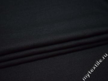 Костюмная синяя ткань шерсть полиэстер шёлк ГЕ469