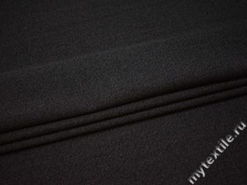 Костюмная черная ткань в полоску полиэстер ВВ46