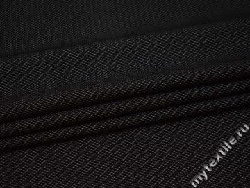 Костюмная черная ткань хлопок полиэстер эластан ВВ48