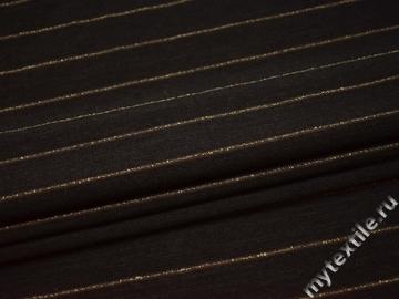 Костюмная коричневая ткань шерсть полиэстер эластан ГД312